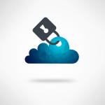 Safe Digital Cloud Concept - Data privacy in cloud computing technology with digital devices
